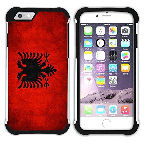 Graphic4You Vintage Uralt Flagge Von Kurdistan Kurdisch Design Hart + Weiche Kratzfeste Hülle Case Schale Tasche Schutzhülle für Apple iPhone 6 Plus / 6S Plus Albanien Albanisch