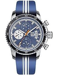 Ingersoll Bison No. 74automático para hombre reloj azul/plata/negro in1717bl