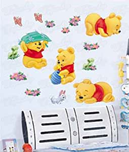 wandaufkleber wandtattoo wandsticker deko winnie pooh kind kinderzimmer wag 034. Black Bedroom Furniture Sets. Home Design Ideas