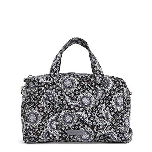 Vera Bradley Damen Iconic 100 Handbag, Signature Cotton Ikonische 100-Handtasche, Signaturbaumwolle, Charcoal Medallion, Einheitsgröße Vera Bradley Medallion
