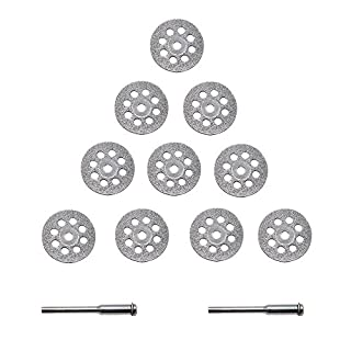 APLUS Mini Diamond Cutting Discs Kit Perforated Cutting Disc 22mm Set of 2 arbors Pack of 10