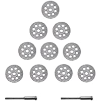 APlus Diamante Mini Trennscheibe Set Diamante (Juego de Cuchillas Perforadas 22 mm con 2 Arbors 10 Unidades)