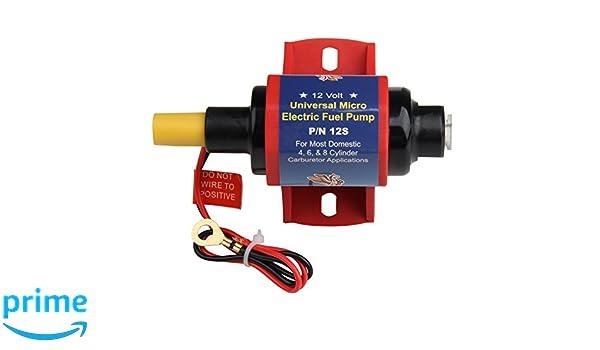 Heavy-Duty Metall 4-7 PSI PSI Niederdruck Inline Kraftstoffpumpe nur f/ür Benzin 12V CarBole 12S Universal Elektrische Kraftstoffpumpe