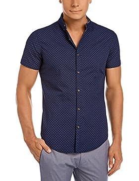oodji Ultra Uomo Camicia in Cotone Aderente