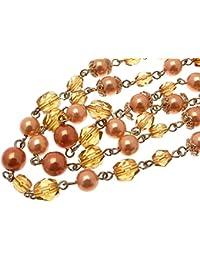 Beaded Necklaces For Women Orange Beads Orange Necklace Orange Jewellery 1002