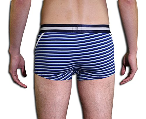 CR7 CRISTIANO RONALDO Herren Unterhose Hautenge Boxershorts Blau-Weiß