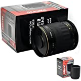 Opteka 500-1000mm High Definition Mirror Telephoto Lens for Canon EOS 1D, 5D, 6D, 7D, 10D, 20D, 30D, 40D, 50D, 60D, 100D, 300D, 350D, 400D, 450D, 500D, 550D, 600D, 700D, 1000D, 1100D & 1200D Digital SLR Cameras