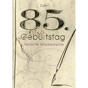 Grußkarte Urkunde Zum 85 Geburtstag Herzliche Glückwünsche A5
