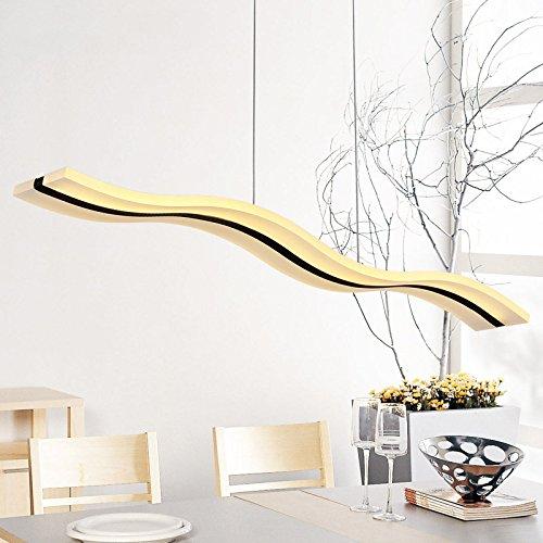 Create For Life® Kronleuchter Moderne Welle LED-Pendelleuchte Deckenleuchter Licht-LED hängende Leuchte für moderne Wohnzimmer Schlafzimmer Esszimmer (Warmweiß 3000K)
