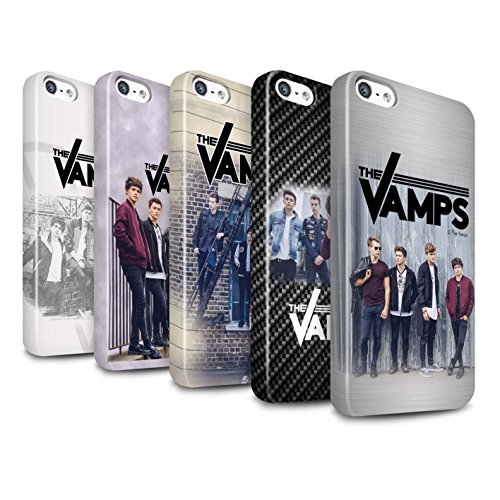 Offiziell The Vamps Hülle / Glanz Snap-On Case für Apple iPhone SE / Pack 6pcs Muster / The Vamps Fotoshoot Kollektion Pack 6pcs