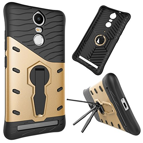 Für Lenovo K5 Note Armor Cover, 2 In 1 Durable TPU + PC Heavy Duty 360 ° Drehbarer Stand Dual Layer Shockproof Case Cover ( Color : Black ) Gold