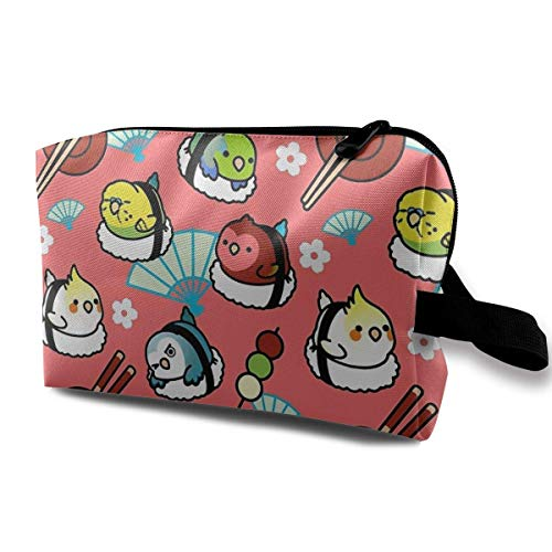 Sushi Time Travel Storage Bag Makeup Cosmetic Bag Pouch (Softball-rucksäcke)