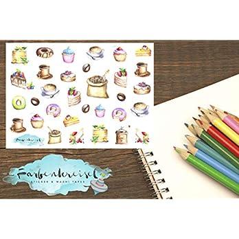 Kaffee & Kuchen Sticker (Kreide)