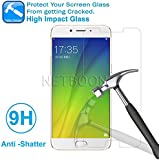 NETBOON Premium Quality Screen Guard Gorilla Tempered Glass Full Transparent 9H Hardness For Oppo F3 Plus