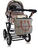 Bolso cambiador para pañales, ropita de bebe, biberones - Incluye Cambiador Bebe impermeable - Para los Carritos de bebe y sillas de paseo