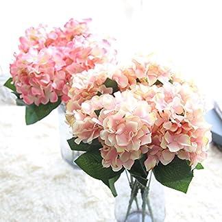 HCFKJ Faux Seda Artificial Floral Flor Bouquet Hydrangea Party Decor Craft