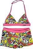 Smiley World Bikini Mädchen 2 Stück Badeanzug Alter 6 bis 12 Jahre (8 Jahre, Baby Pink)