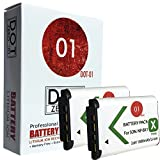 2x DOT-01 Brand 1800 mAh Replacement Sony NP-BX1 Batteries for Sony DSC-RX100 HDR-AS200V HDR-PJ440 DSC-WX350 HDR-AS10 HDR-AS15 DSC-RX100 III DSC-HX400V HDR-AS20 DSC-HX300 DSC-WX300 HDR-AS30 HDR-MV1 DSC-RX1R DSC-RX100M2 HDR-CX240 HDR-PJ275 DSC-RX1 DSC-HX50V HDR-AS100V HDR-CX405 HDR-CX440 DSC-HX90V DSC-WX500 FDR-X1000V Digital SLR Camera and Sony BX1
