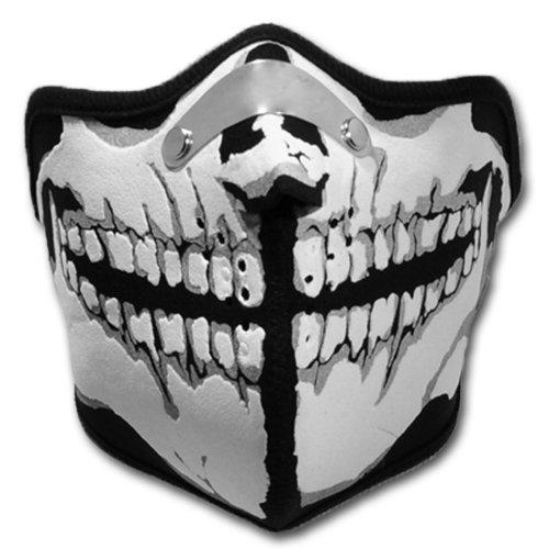 WINDMASK Neopren Biker Motorrad Maske Sturmmaske Skimaske - Skull Face Totenkopf