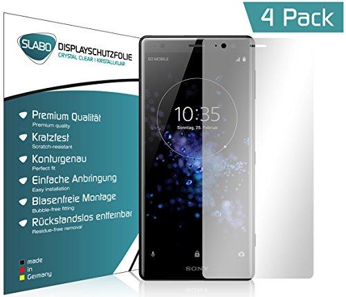 Slabo 4 x Displayschutzfolie für Sony Xperia XZ2 Displayfolie Schutzfolie Folie Zubehör Crystal Clear KLAR