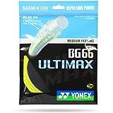 Yonex BG 66 Ultimax Nylon Badminton String, Senior (Yellow)