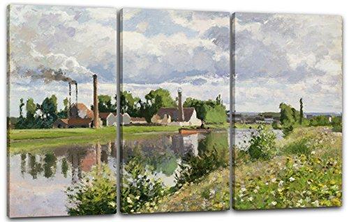 Leinwand 3-teilig(120x80cm): Camille Pissarro - Usine au Bord de l'Oise Saint-O -