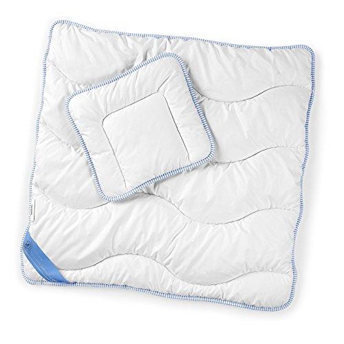 Sterntaler Oberbett, Bettdecke und Kopfkissen, 80 x 80 cm, Polyester, Weiß