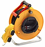 Brennenstuhl Enrouleur cable electrique Standard BT-RB Pro (40 m), rallonge électrique Professionnelle avec bloc prises mobile Powerblock, jaune, Fabrication Française...