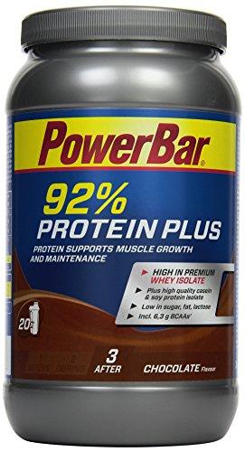 PowerBar Whey, Casein & Soja Eiweißpulver – Protein Plus 92% – Mehrkomponenten Protein Shake mit Aminosäuren (BCAA) – Proteinpulver – 600g Schokolade