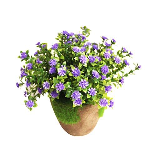 WINOMO Planta Artificial Potted Falsa Planta decorativa Bonsai Lifelike Flor para decoración...