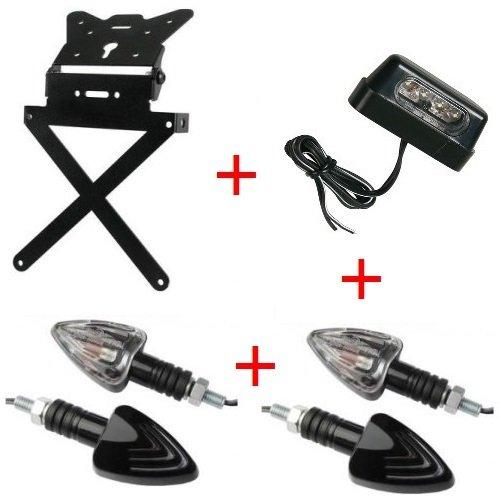 Kennzeichenhalter für Motorrad universal + 4Blinker + Kennzeichenbeleuchtung Kit zugelassen Lampa Yamaha FZ6600S22007–2017