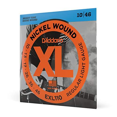 D\'Addario EXL110 Satz Nickelsaiten für E-Gitarre 010\' - 046\' Regular Light