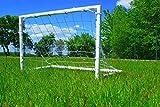Netsportique Fußballtor für Kinder Fun - 3 Größen zur Auswahl - aus uPVC Klicksystem Zubehör und 100% WETTERFEST (1,2 x 0,8m)
