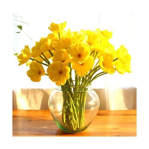 Gecheng Amapolas Artificiales de Flores Artificiales para decoración del hogar, Sala de Estar, decoración de Bodas y…
