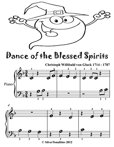 Dance of the Blessed Spirits Beginner Piano Sheet Music Tadpole Edition (English Edition)