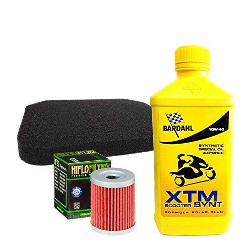 Kit tagliando Bardahl XTM Scooter 10W40 filtro olio aria S u z u k i Burgman 250/400