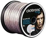 Clicktronic Advanced Câble haut-parleur double (câble 2 x 2,5 mm² avec mélange de tresses en cuivre pur et de tresses plaquées argent) 10 m
