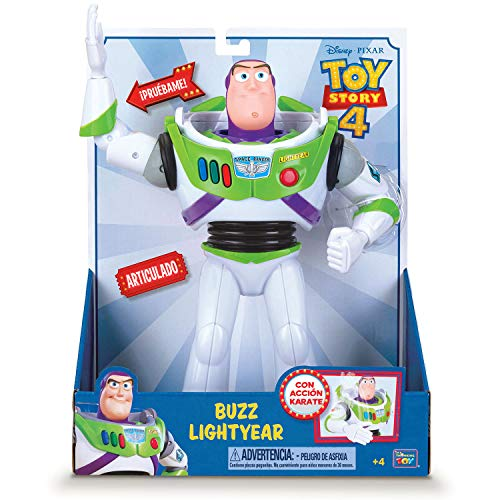 Toy Story 4 - Figura de Buzz Lightyear, acción karate - 30cm de altura (Bizak 61234068)
