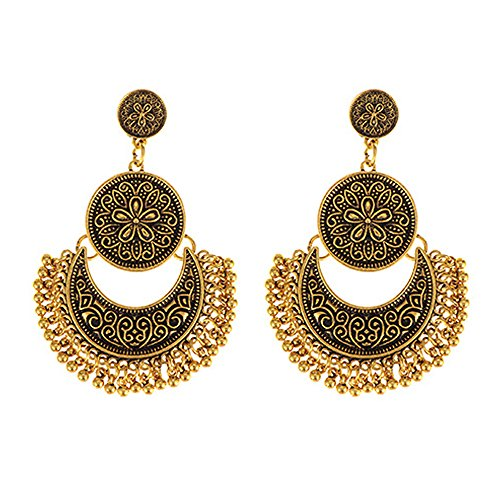 young & forever tribal muse collection jaipur jewels designer fusion moonshape chandbali earings earings for girls stylish hanging womens earings by crazeemania Young & Forever Tribal Muse Collection Jaipur Jewels Designer Fusion Moonshape Chandbali earings earings for girls stylish hanging womens earings by CrazeeMania 51iPDwk91gL