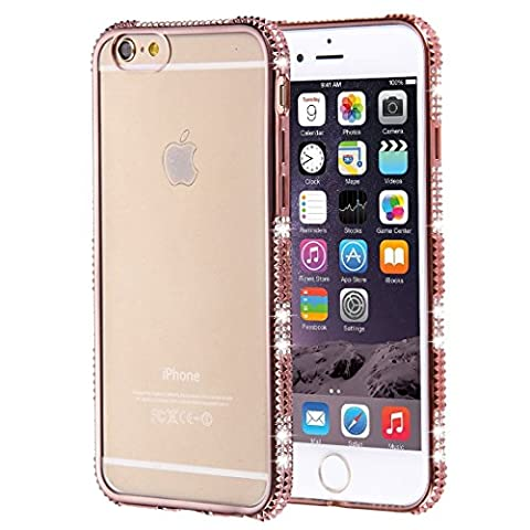 Phone Case Coque cover, Pour iPhone 6 / 6s, boîtier de protection TPU de cadre à galvanoplastie encadré diamant ( SKU : IP6G1861A )