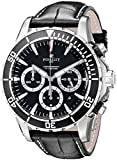 Perrelet Men's 45mm Crocodile Leather Band Steel Case Automatic Watch A1054-2