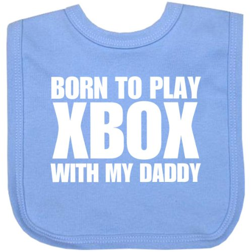 1-born-to-play-xbox-with-my-daddy-cotton-velcro-baby-bib-blue