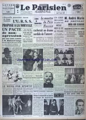 PARISIEN LIBERE EDITION DE PARIS (LE) [No 1368] du 07/02/1949