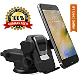 CQLEK® 1Press Car Mobile Phone Holder - Telescopic One Touch Long Neck Arm Adjustable Quick Stand Technology 360 Degree Rotation with Super Reusable Suction Cup Mount for Dashboard/Windshield/Desktop