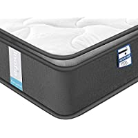 Inofia Double Memory Foam Pocket Sprung Mattresses Pressure Relief with Zoned Support 9.5Inch Depth-100 NIGHTS TRIAL-(Airy breathable+Memory foam, Double-4ft6(135x190x24cm))