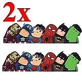 Sky-Welle 2X Superhelden Sticker Laptop Auto Kühlschrank Kofferraum Aufkleber Marvels Figuren Stickerbomb