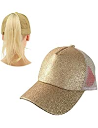 HX fashion Berretto da Baseball Ponytail Cappello Regolabile Maglia Trucker  Baseball Sequin Chic Baseball Golf Mesh 1574d5a4f3b8