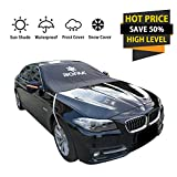 BOFAA Car Windscreen Cover(Non-Magnetic), Windshield Snow Cover with Mirror Covers,Blocking Snow, Fallen Leaves, UV Sun Rays,Elastic Hooks Design Will Not Scratch Paint, Fits Most Cars