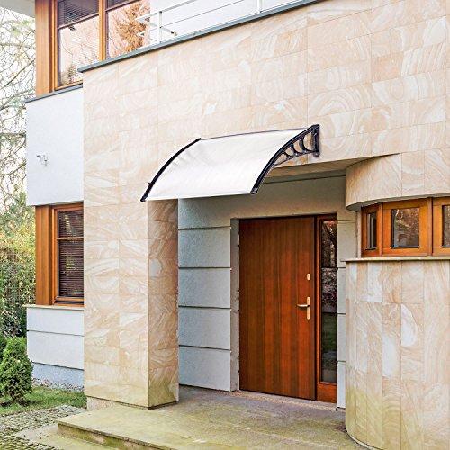 Pensilina tettoia policarbonato copertura trasparente - Archi per giardino ...