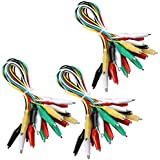 Elegoo 30pcs Alligator Clip Wire Test Leads Set con Pinzas de Cocodrilo Cable de Puente de Doble Final de 50cm